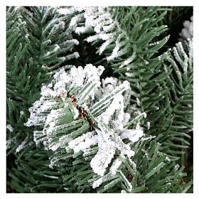 Sapin de Noël 225 cm neige avec glitter Poly Sheffield s5