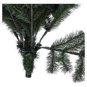 Sapin de Noël 225 cm neige avec glitter Poly Sheffield s6
