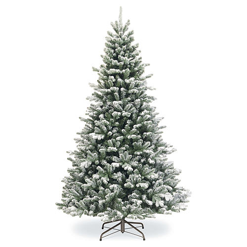 Sapin de Noël 225 cm neige avec glitter Poly Sheffield 1