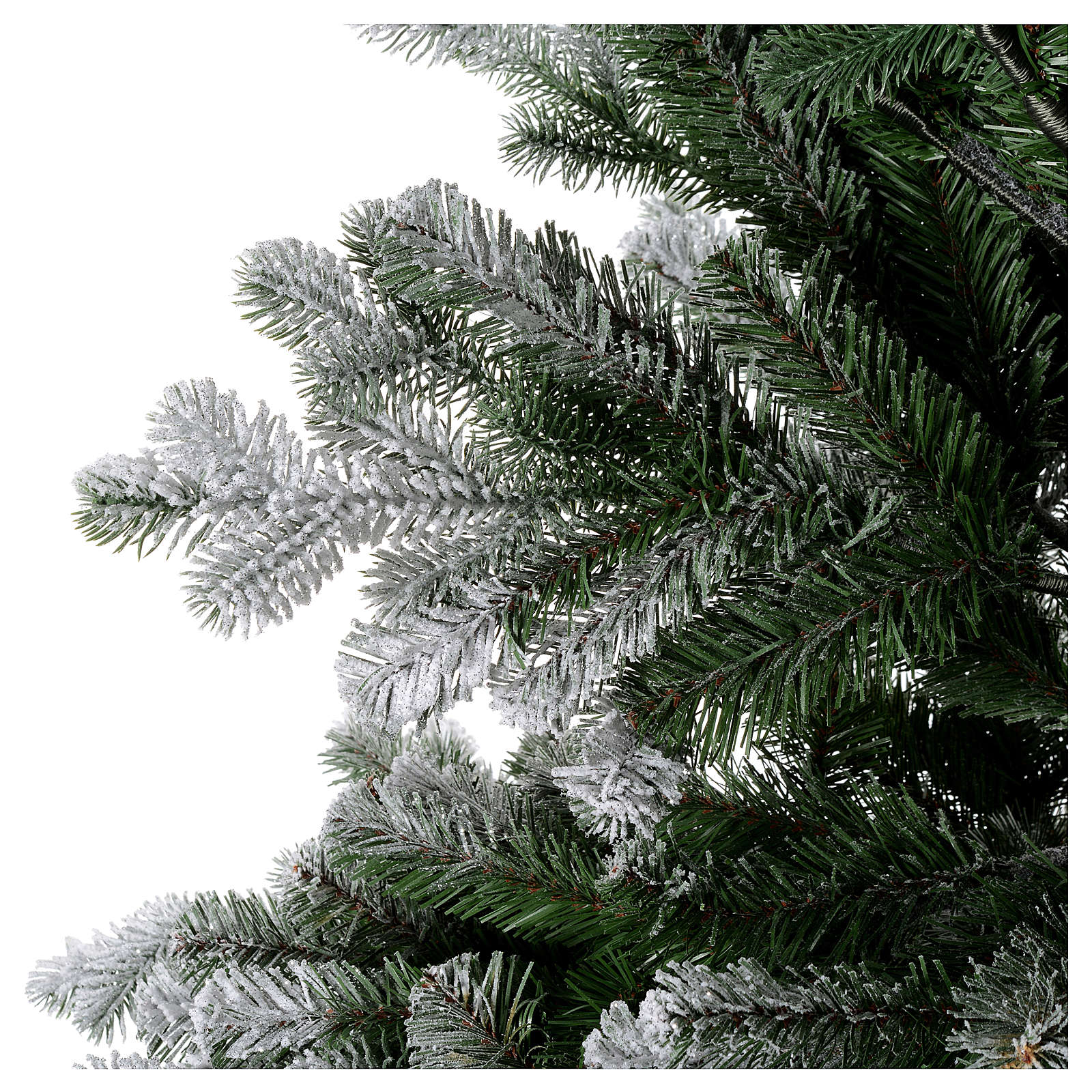 artificial christmas tree 225 cm sheffield flocked with glitter 3