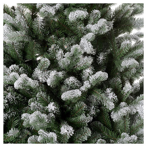 Artificial Christmas tree 225 cm, Sheffield flocked with glitter 3