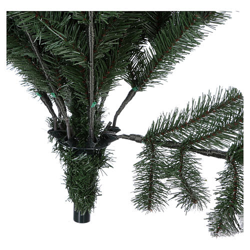 Artificial Christmas tree 225 cm, Sheffield flocked with glitter 6