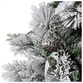 Albero di Natale 180 cm floccato pigne pvc Bedford s3