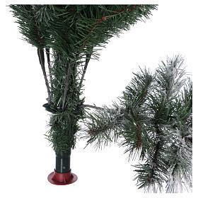 Albero di Natale 180 cm floccato pigne pvc Bedford s5