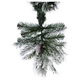 Albero di Natale 180 cm floccato pigne pvc Bedford s6