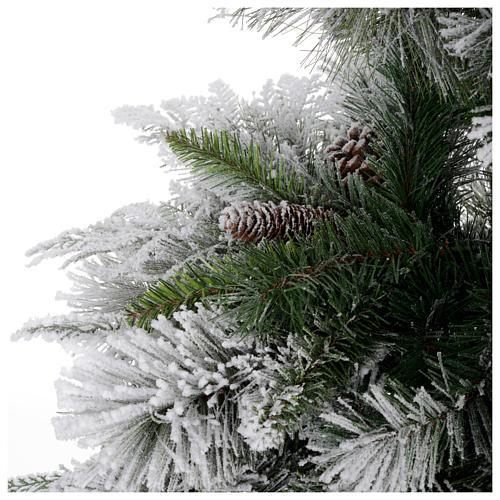 Albero di Natale 180 cm floccato pigne pvc Bedford 4