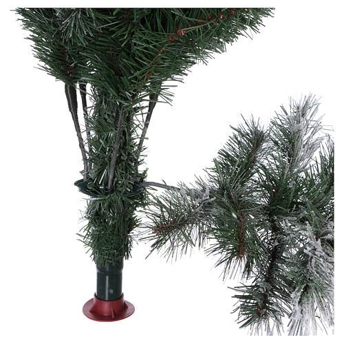 Albero di Natale 180 cm floccato pigne pvc Bedford 5