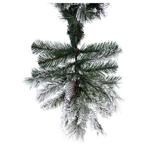 Albero di Natale 180 cm floccato pigne pvc Bedford 6