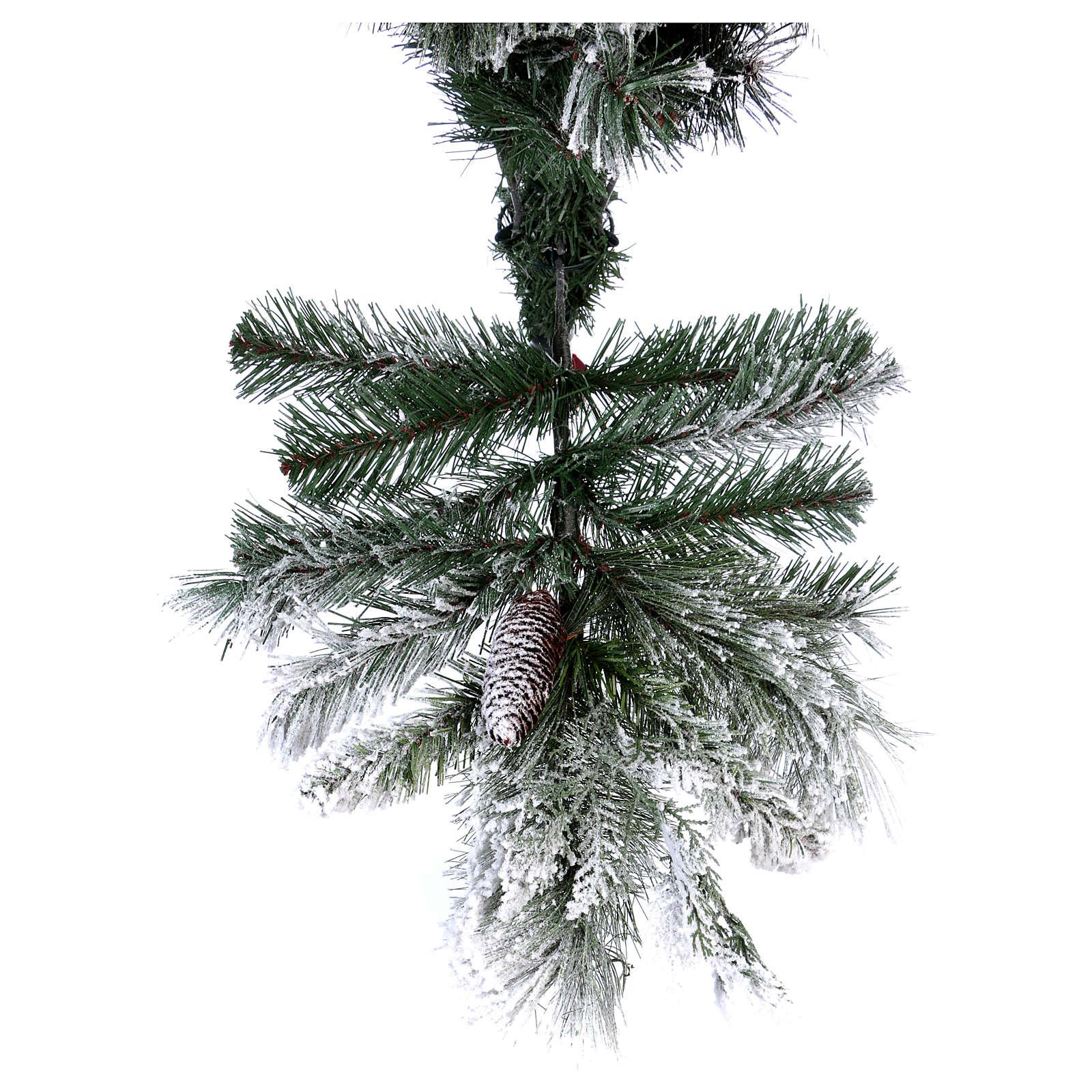 Árbol de Navidad 210 cm piñas copos de neve Bedford 3