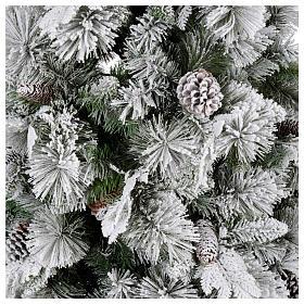 Albero di Natale 210 cm pigne floccato Bedford s2