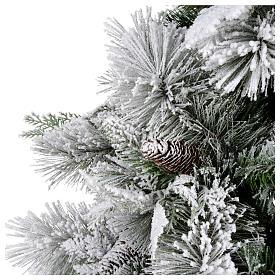 Albero di Natale 210 cm pigne floccato Bedford s3