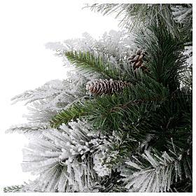Albero di Natale 210 cm pigne floccato Bedford s4