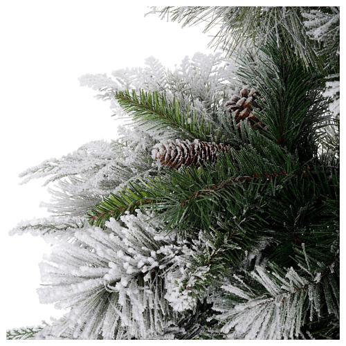 Albero di Natale 210 cm pigne floccato Bedford 4