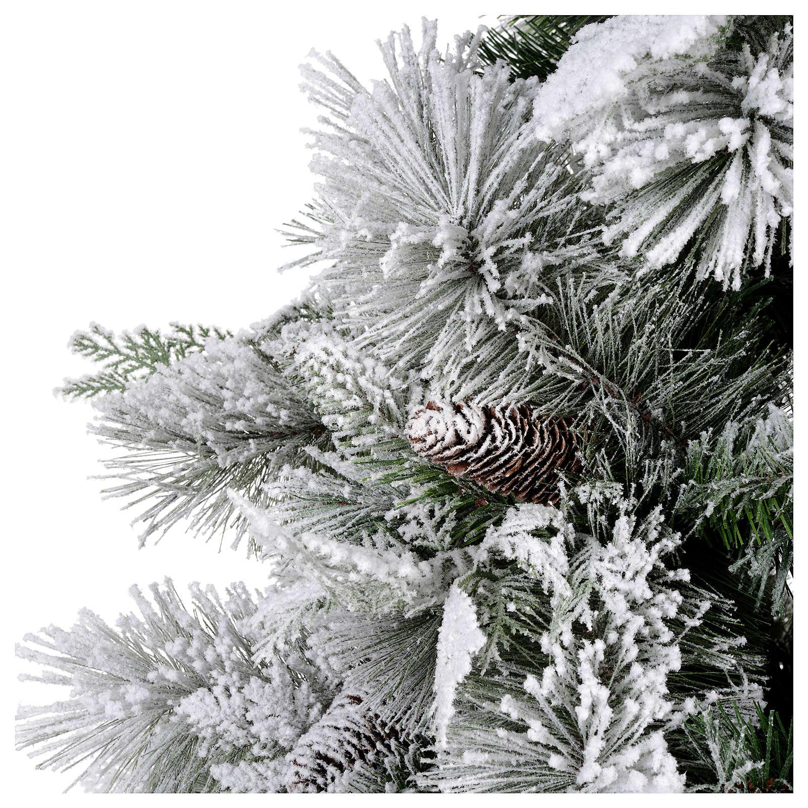 Albero di Natale 225 cm floccato pigne Bedford 3