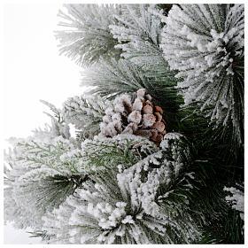 Albero di Natale 225 cm floccato pigne Bedford s4