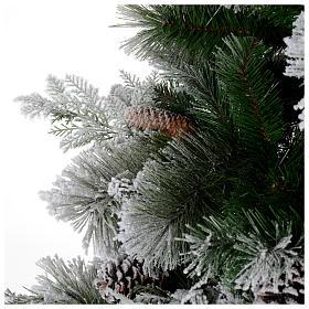 Albero di Natale 225 cm floccato pigne Bedford s5