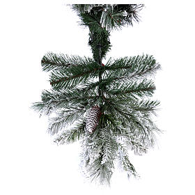 Albero di Natale 225 cm floccato pigne Bedford s6