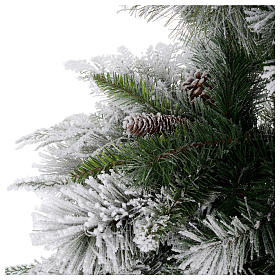 Christmas tree 225 cm, Bedford flocked with pine cones s4
