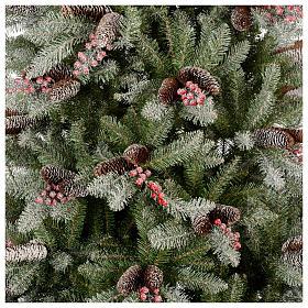 Albero di Natale 180 cm Slim floccato bacche pigne Dunhill s2