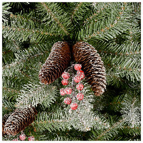 Albero di Natale 180 cm Slim floccato bacche pigne Dunhill s3