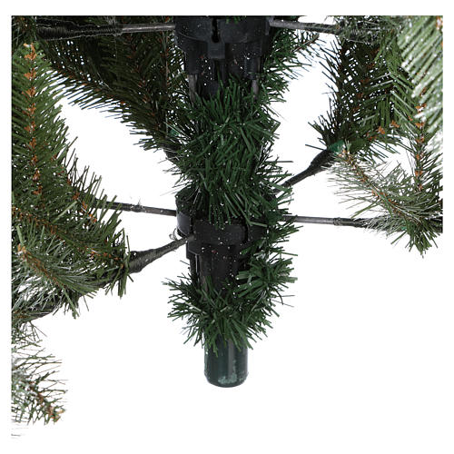 Slim Christmas tree 210 cm, Dunhill flocked with pine cones and berries 7