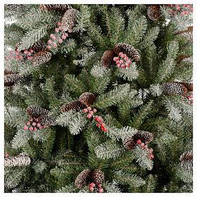 Sapin de Noël 210 cm Slim neige baies pommes pin Dunhill s2