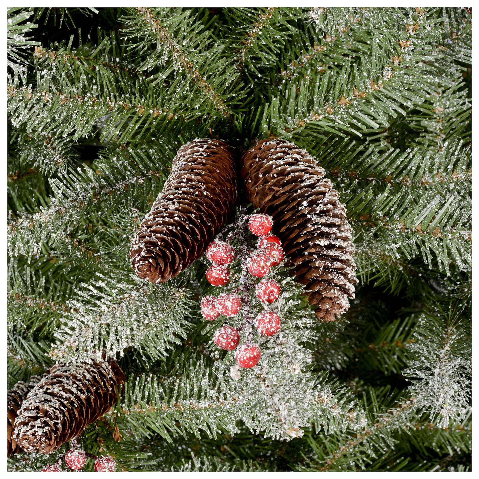 Artificial Christmas Trees With Berries And Pine Cones