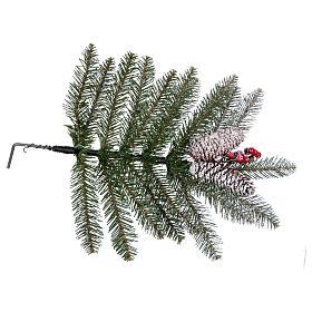 Albero di Natale 240 cm Slim con neve floccato bacche pigne Dunhill s6