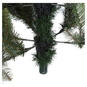 Albero di Natale 240 cm Slim con neve floccato bacche pigne Dunhill s7