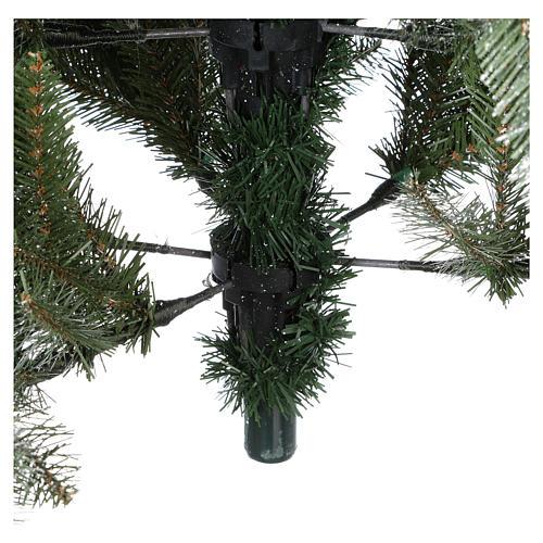 Albero di Natale 240 cm Slim con neve floccato bacche pigne Dunhill 7