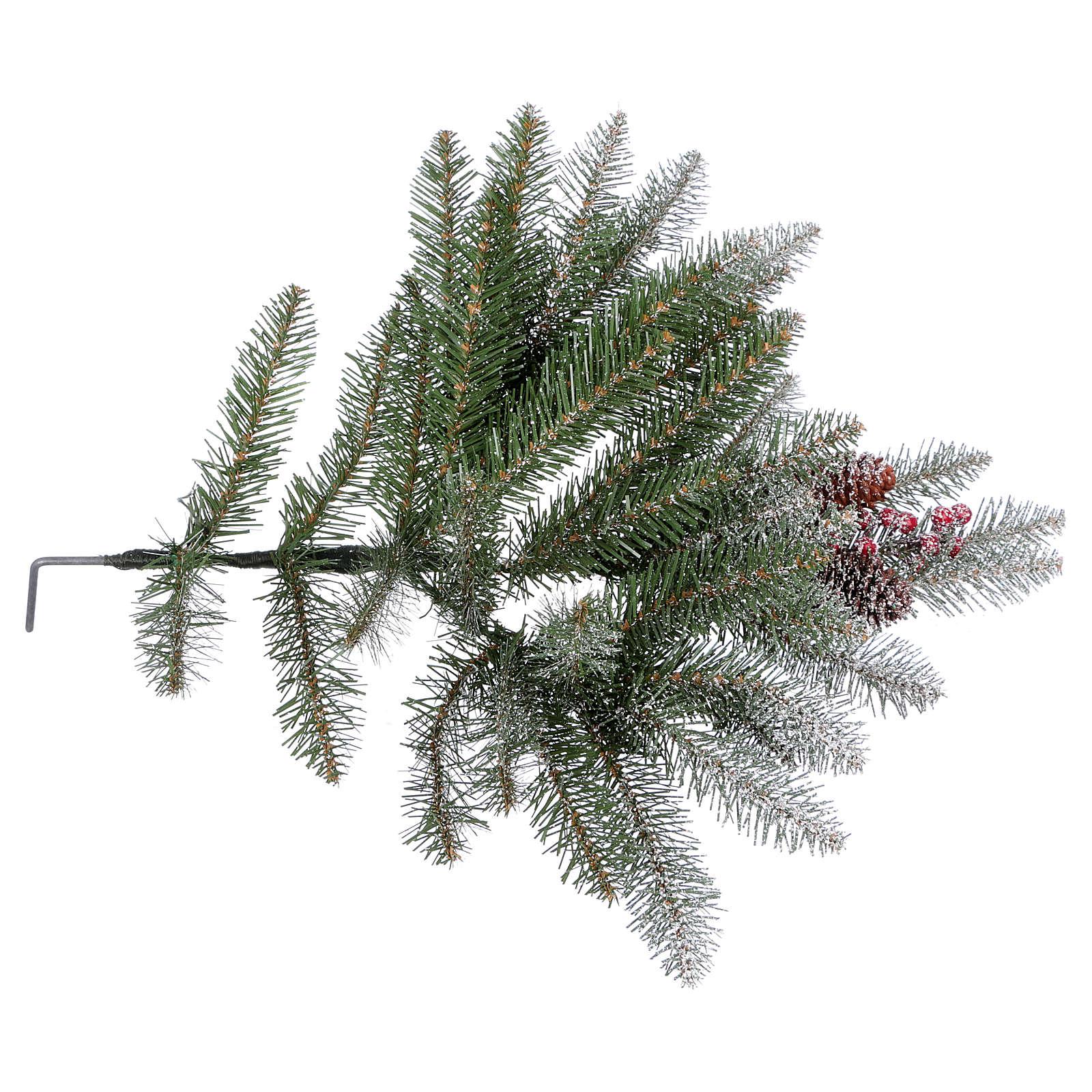 Albero di Natale 210 cm floccato pigne bacche modello Dunhill 3