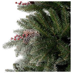 Albero di Natale 210 cm floccato pigne bacche modello Dunhill s5