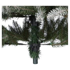 Albero di Natale 210 cm floccato pigne bacche modello Dunhill s7