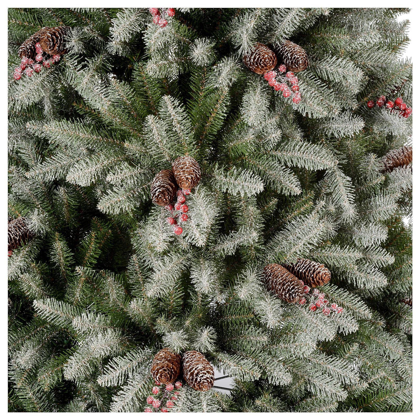 Sapin de Noël 240 cm neige baies et pommes pin Dunhill 3