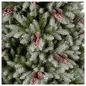 Albero di Natale 240 cm floccato pigne e bacche mod. Dunhill s3
