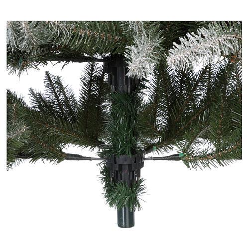Albero di Natale 240 cm floccato pigne e bacche mod. Dunhill 7