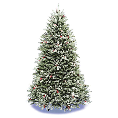 Christmas tree 240 cm, Dunhil flocked with pine cones and berries 1