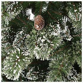 Albero di Natale 180 cm verde pigne Glittery Bristle s3