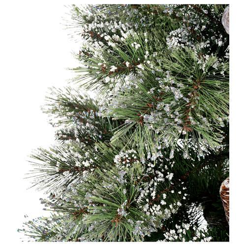 Albero di Natale 180 cm verde pigne Glittery Bristle 4