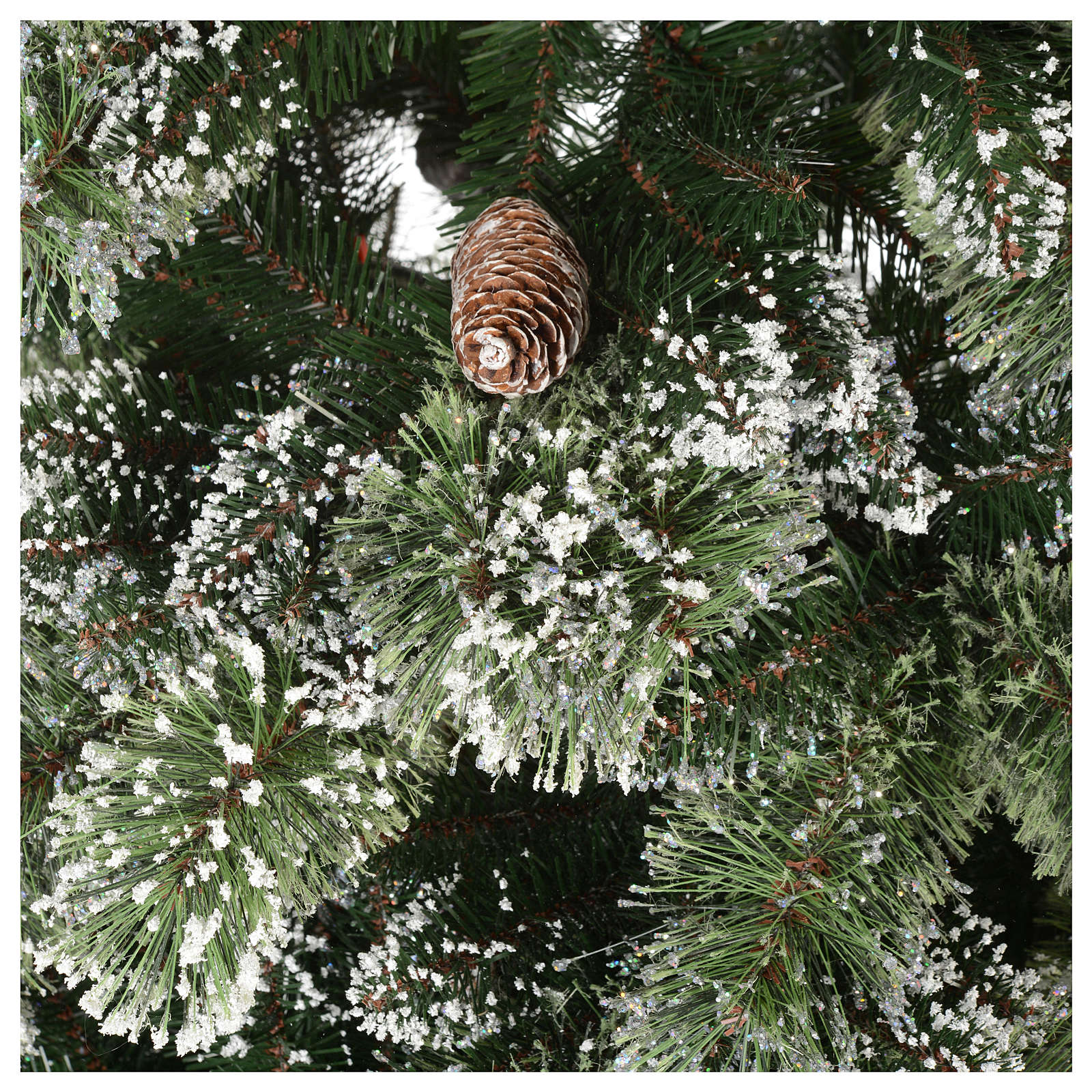 Christmas tree 210 cm, green with pine cones Glittery Bristle 3