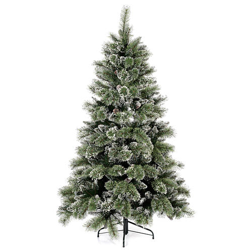 Christmas tree 210 cm, green with pine cones Glittery Bristle 1