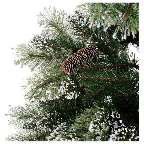 Christmas tree 210 cm, green with pine cones Glittery Bristle 2