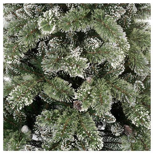 Sapin de Noël 210 cm vert avec pommes pin Glittery Bristle 9