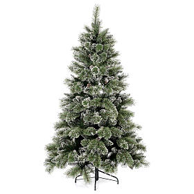 Albero di Natale 210 cm verde con pigne Glittery Bristle s1