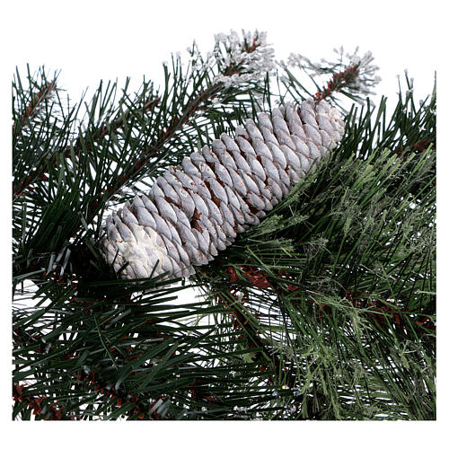 Grüner Weihnachtsbaum 225cm Zapfen und Glitter Mod. Glittery Bristle 6