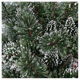 Sapin de Noël 225 cm vert avec glitter et pommes pin Bristle s8