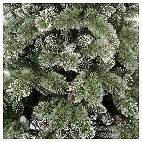 Albero di Natale 225 cm verde con glitter e pigne Bristle s3