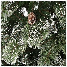Albero di Natale 225 cm verde con glitter e pigne Bristle s4