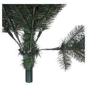 Albero di Natale 225 cm verde con glitter e pigne Bristle s7