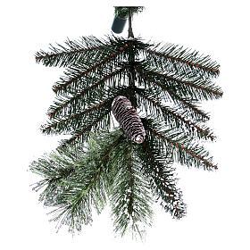 Albero di Natale 225 cm verde con glitter e pigne Bristle s9